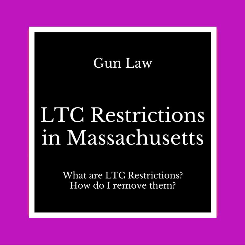restrictions on ltc in massachusetts